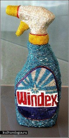 Kitchen dreams woven of beads. Liza Lou: Windex