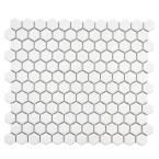 Merola Tile Metro Subway Beveled Glossy White 12 in. x 12 in. x 5 mm Porcelain Mosaic Tile (10 sq. ft. / case)-FXLMSBGW - The Home Depot