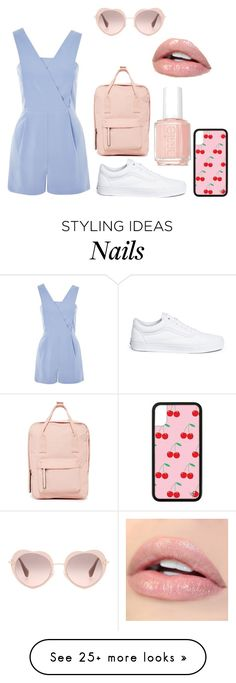 """I like this"" by mandyscherries on Polyvore featuring Miu Miu, Topshop, Vans, Madden Girl and Essie"
