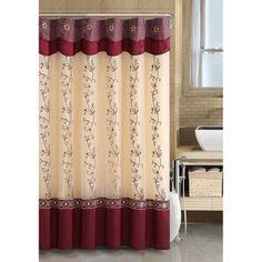 Daphne Burgundy Shower Curtain   Overstock.com Shopping - Great Deals on Shower Curtains
