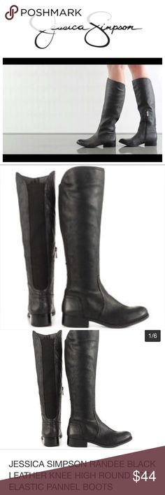 BNWOT Jessica Simpson black Randee boot Brand new Jessica Simpson Randee boots. No tags but has the little plastic tie still on the zipper to show they are brand new and I have a pic of the bottom as well. When I bought these I got a great deal because they weren't in a box but because of that leather boots tend to crease so because there are some creases in the boots I'm giving a great deal as these are normally $170! Size 6.5 still has part of Nordstrom Rack sticker on bottom 😊 Jessica…