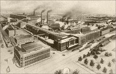 Studebaker factories circa 1902, South Bend, Indiana