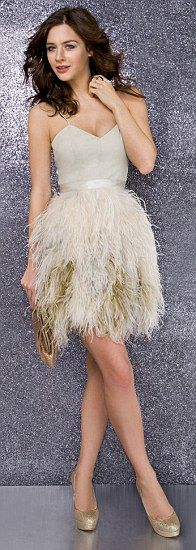 feather dress. love. for bachelorette party