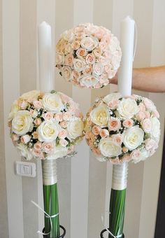 Brave Events - Lumanari de cununie pentru nunta si botez Crepe Paper, Bellisima, Special Day, Wedding Flowers, Wedding Decorations, Bouquet, Candles, Weddings, Diy