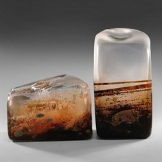 Holly Grace - Pismo Fine Art Glass [look like high desert landscapes forever frozen in glass ... VERY COOL!!]