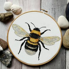 This pattern features a large colourful bee and will fit perfectly in an eight inch hoop. This pattern just features whole cross stitches. This listing is for a PDF file of the cross stitch pattern, not the finished product. You will need to have a PDF reader (Adobe Reader works great for