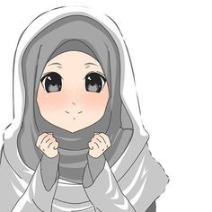 downlod by on DeviantArt Anime Character Drawing, Cute Anime Character, Muslim Pictures, Anime Muslim, Hijab Cartoon, Cute Patterns Wallpaper, Islamic Girl, Cool Bunk Beds, Street Hijab Fashion