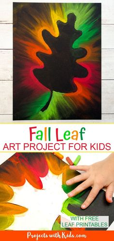 Fall leaf chalk pastel art with gorgeous autumn colors that kids of all ages will love to do! around the world preschool art Gorgeous Fall Leaf Chalk Pastel Art Kids Can Make Leaf Template Printable, Leaf Printables, Printable Leaves, Free Printable, Autumn Crafts, Autumn Art, Autumn Theme, Autumn Leaves, Fall Art Projects