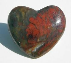 Lake Superior Moss Agate Jasper Heart Shaped Cabochon | eBay