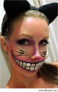 El gato de alicia en el pais de las maravillas make up