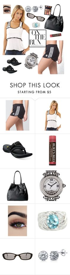 """""""Just Off the Court - 3 Stripes"""" by divinespiritcreations ❤ liked on Polyvore featuring adidas, Boy Meets Girl, Clarks, Burt's Bees, Charlotte Tilbury, Cole Haan, Chopard, Vintage, D&G and BERRICLE"""