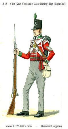 NAP- Britain: British Sergeant 51st Regiment (2nd Yorkshire West Riding) Light Infantry 1815, by Bernard Coppens.
