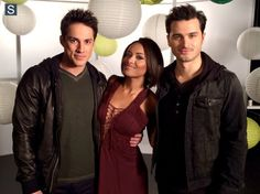 Michael Trevino, Kat Graham, and Michael Malarkey
