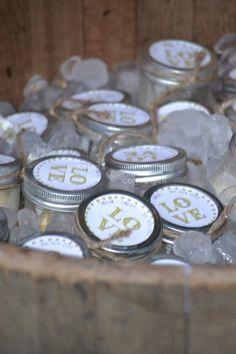 ice cream jars in bucket of ice | Ice Cream in Mason Jars | iEntertain