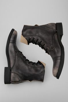 Old military style boots