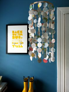 atlas paper circle chandelier by thekindpilot on Etsy, $28.00
