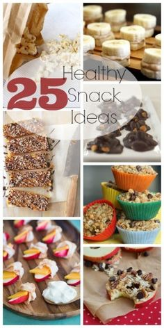 25 Healthy Snack Ideas | @Remodelaholic .com #snacks #recipes #healthy