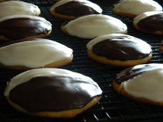 """Did you know that the Black and White Cookie has it's own Facebook page with 3,542 """"likes""""! I was asked a while back if I had the recipe ..."""