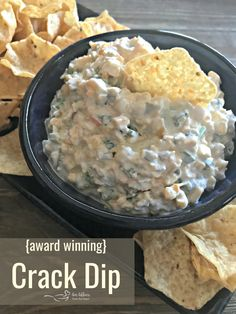 "{Award Winning} Crack Dip – An Affair from the Heart – {AWARD WINNING} ""CRACK DIP"" This dip is deliciously addictive! Creamy dip with a little bit of heat from the jalapeños, bursting with flavor from the MexiCorn and the green onions. This is a hit and Best Dip Recipes, Favorite Recipes, Top Recipes, Cold Dip Recipes, Healthy Dip Recipes, Pretzel Dip Recipes, Easy Potluck Recipes, Party Dip Recipes, Snack Recipes"