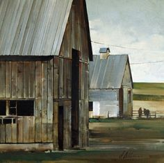 "Joseph Alleman || Interstate Barns 2011, Oil  11"" x 11"""