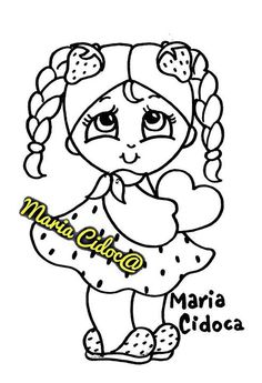 menina moranguinho - Maria Cidoca