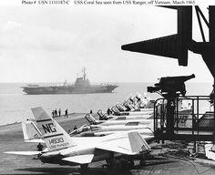 April 15, 1965 For the first time, planes from the carriers Midway, Coral Sea, and Yorktown, which are at Dixie Station southeast of Cam Ranh Bay, attack VC forces in South Vietnam, targeting VC positions northwest of Saigon.
