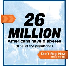 With over 8% of the population living with #diabetes, we can't stop now, join in our effort to RENEW THE SDP!