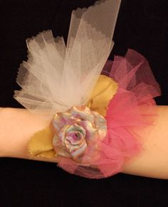 Fabric Corsage with Handmade Flower