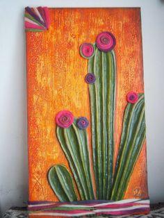Cactus Painting, Cactus Art, Jar Art, Pictures To Paint, Art Tutorials, Flower Art, Canvas Wall Art, Westerns, Art Drawings