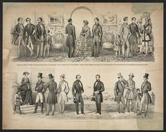 Paris, New York & Philadelphia fashions for spring & summer 1855, published & sold by F. Mahan, No. 186 Chesnut Street, Philadelphia. Library of Congress, Prints & Photographs, LC-DIG-ppmsca-24880.