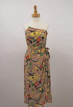 a6f844d2e033 50s Hawaiian travel dress Hawaiian Wear, Vintage Hawaiian Shirts, Hawaiian  Print, Tiki Dress