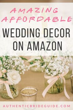Don't blow the wedding budget on decorations! You'll be amazed how many great options you can find on Amazon.   #weddingdecor #amazonwedding #2021wedding #virtualwedding #bridetobe #engaged #2022weddingplanning #authenticbrideguide Wedding Budget Worksheet, Wedding Budget Planner, Gift Table Wedding, Wedding Reception Tables, Wedding Planning Inspiration, Wedding Planning Tips, Wedding Hacks, Wedding Tips, Table Centerpieces
