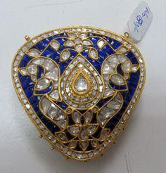 22 K gold marked Kundan Diamond jewelry by TRIBALEXPORT on Etsy, $3299.00