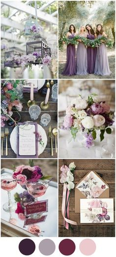Polished Purple & Mixed Berry Wedding Colour Palette - This fresh palette of rich hues is perfect for an autumn wedding. Purple has always been a popular colour for Irish weddings because of its regal, timeless feel but this is the year to mix up your sha Wedding 2017, Wedding Themes, Wedding Planner, Our Wedding, Dream Wedding, Wedding Decorations, Trendy Wedding, Colour Themes For Weddings, Wedding Tips