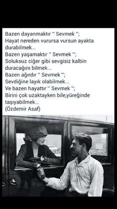 """Bazen dayanmaktır """"sevmek"""" Özdemir Asaf"""