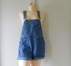 Women Overalls Womens Shortalls Denim Shortalls by TheVilleVintage, $44.99
