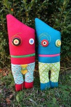 ZIPPER MOUTH MONSTER SOFTIE Ric raC SEWING PATTERN KIDS in Crafts, Sewing, Patterns | eBay