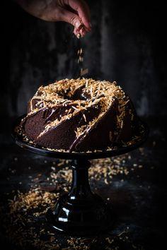 ... chocolate toasted coconut cake (gf) ...