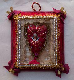 Nossa Senhora do Pilar (Our Lady of Pilar), La PilariZaragoza, Spain, medal in silk, lace, metal, paper, cotton, strass - 14 x 12 cm