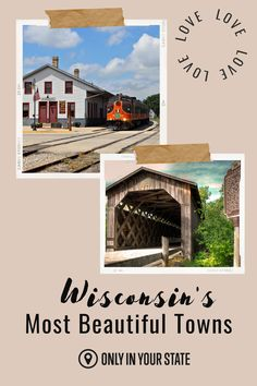 Discover some of the prettiest, most charming small town in Wisconsin. Find beautiful architecture, great downtowns, and plenty to do. These are all great local day trip destinations. Towns In Wisconsin, Best Bucket List, Hidden Beach, Magical Forest, Swimming Holes, Beautiful Architecture, Natural Wonders, Small Towns, Day Trips