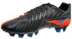 Nike T90 Total 90 Strike IV FG Mens Soccer Cleats, Black Orange, $100 MSRP, New