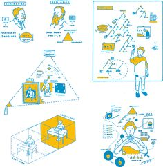 SHO FUJITA Diagram Design, Leaflet Design, Hand Illustration, Art Illustrations, Visual Note Taking, Architecture Concept Drawings, Composition Art, Graphic Design Branding, Graphic Design Inspiration