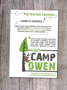 Camping Birthday Party Invitation,  Go To www.likegossip.com to get more Gossip News!