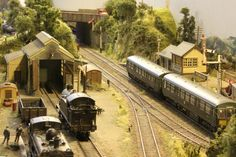 """Penrhos model railway. This Penrhos is a fictitious rural community in Wales served by a BR (WR) branch line during the late 1950's / early 1960's. The layout was built by Dave Spencer and was voted 'Best Steam Era Layout"""" in 2011 by Hornby magazine. It is currently owned by Ian Perrin and has been on the exhibition circuit for the past few years."""