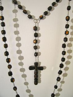 Wall Rosary On Pinterest Rosaries Wire Crosses And