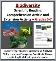 Animal Adaptations - Fully editable, Science Reading Comprehension Activity - Disciplinary Literacy for Grades 5-7 (ages 10-12) as well as older students with lower developed learning levels. Tackle literacy and science by having your students read and answer questions from a scientific article. Questions include knowledge (direct from the paper), thinking, connecting and open-ended varieties.