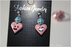 Süße und ausgefallene Ohrringe aus Polymer Clay.    Polymer Clay ist eine ofenhärtende Modelliermasse, die es in verschiedenen Farben gibt. In rohem Z