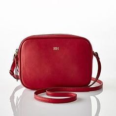 The Essential Crossbody Bag, Red, Leather - Bags - Backpacks + Crossbodies - Mark & Graham Leather Camera Bag, Leather Pouch, Leather Crossbody Bag, Leather Handbags, Leather Bags, Leather Gloves, Crossbody Bags, Leather Tassel Keychain, Mark And Graham