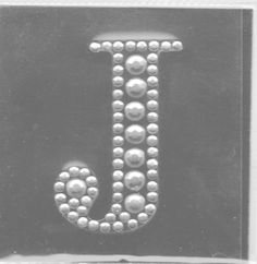 Letter J in pearls.  This is me!