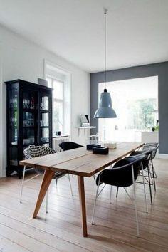 77 Gorgeous Examples of Scandinavian Interior Design Grey-Scandinavian-dining-room